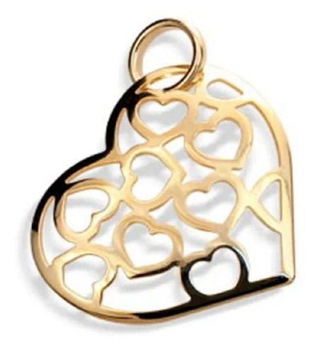 Pingente De Coração Folheado A Ouro Rommanel 541163