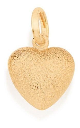 Pingente De Coração Fosco Folheado A Ouro Rommanel 540808