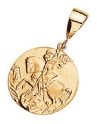 Medalha de São Jorge Rommanel Folheada A Ouro 540629