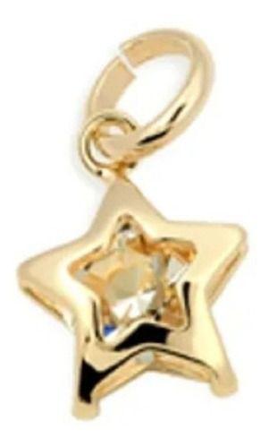 Pingente Estrela Com Cristal Folheado A Ouro Rommanel 540596