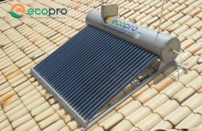 Aquecedor Solar Acoplado - 20 tubos - AÇO 316 - ECOPRO / INMETRO A