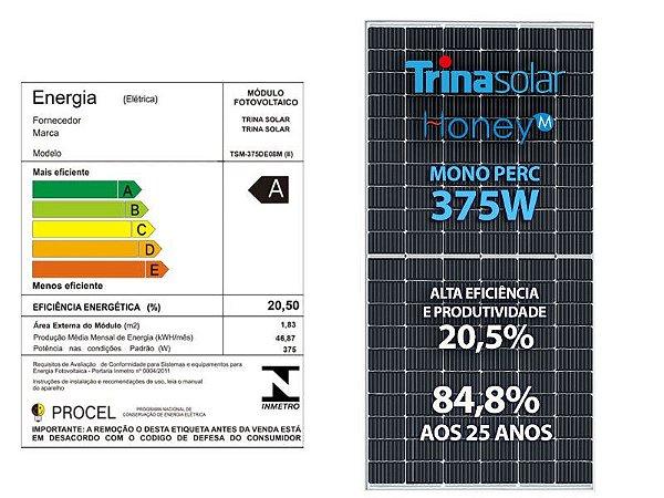PAINEL SOLAR FOTOVOLTAICO 375w TRINA SOLAR