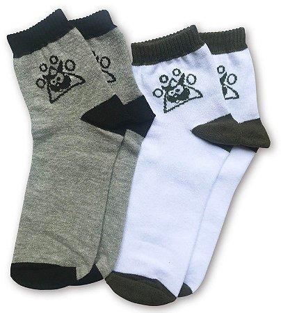 Kit c/ 2 meias masculinas