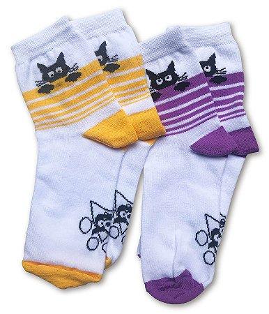 Kit c/ 2 meias femininas