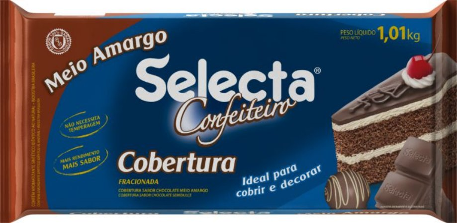 Barra Choc. Meio Amargo Conf. 1,010 Kg - Duas Roda