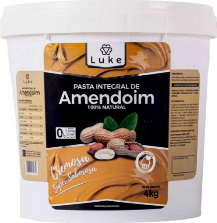 Pasta De Amendoim 4kg- Lukealimentos