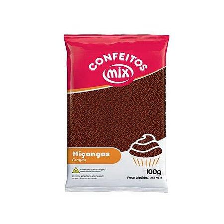 Confeito Miçanga Brigadeiro 100gr - Mix