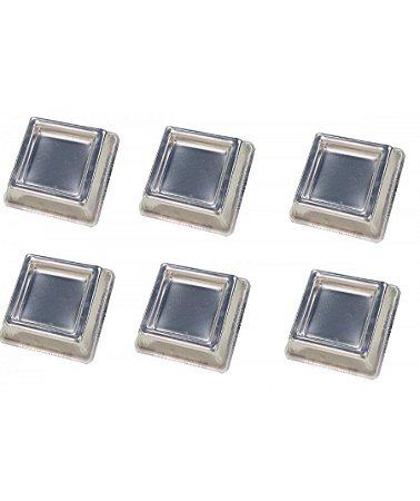 Forma Ballerine Quad. Mini 6pc 9x3,5 Cm Alum - Cap