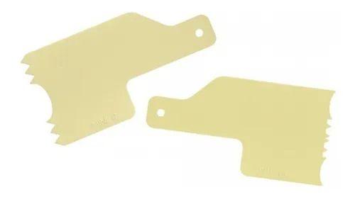 Kit Decorativo Mini Espatulas 5 Amarelo - Bluestar