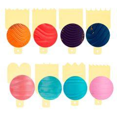 Kit Decorativo Mini Espatulas 8 Amarelo - Bluestar