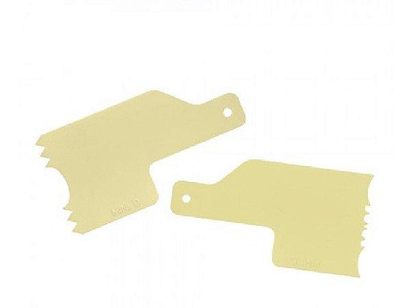 Kit Decorativo Mini Espatulas 2 Amarelo - Bluestar