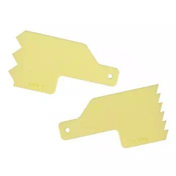 Kit Decorativo Mini Espatulas 4 Amarelo - Bluestar