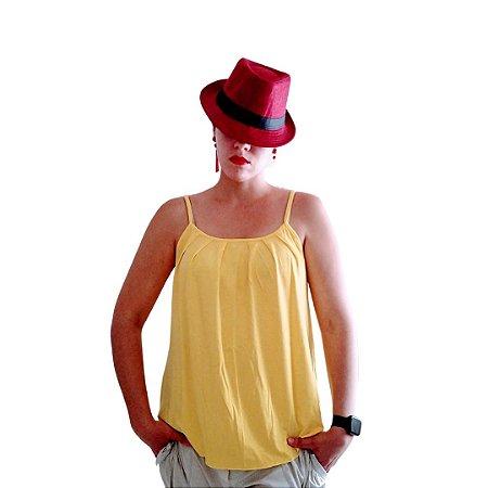 Blusa com alça amarela
