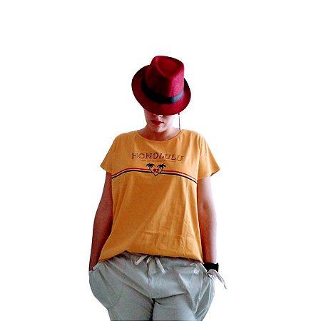Camiseta honolulu amarela