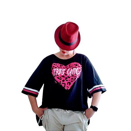 Camiseta coração print