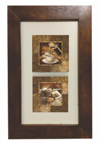 3002M-012 Quadro decor madeira - Café