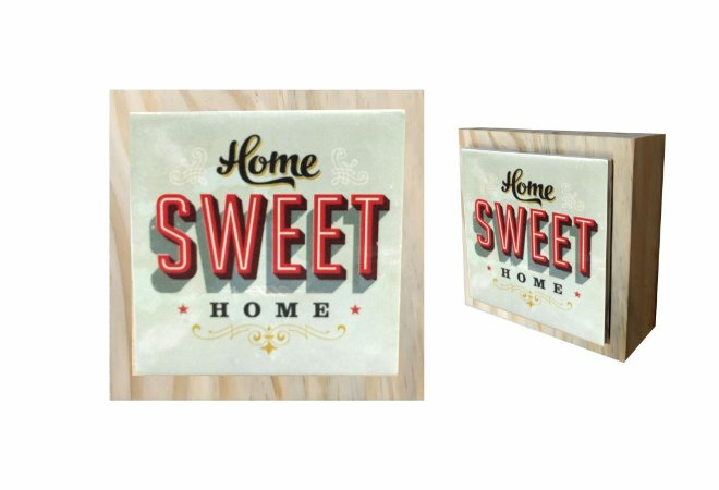 07-04-C068 Cubo Decor Cru - Home Sweet
