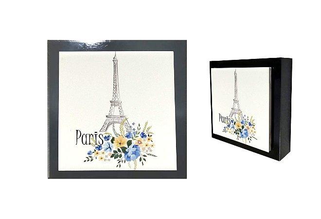 07-04-P067 Cubo Decor Preto - Paris azul