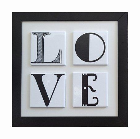 3004-002 Quadro de Azulejo - Love