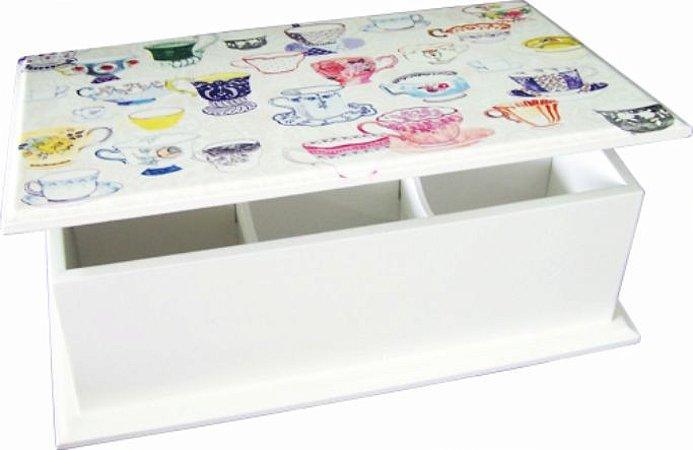 6004-001 Caixa de chá 6 divisórias - Xícaras