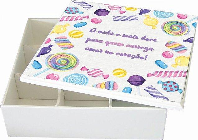 6005-008 Caixa de Bijuteria 9 divisórias - Doce