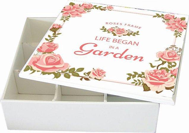 6005-009 Caixa de Bijuteria 9 divisórias- Garden