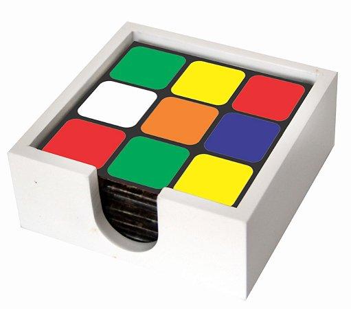 1800P-015 Suporte de copo Azulejo - Cubo mágico