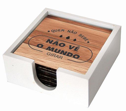 1800P-018 Suporte de copo Azulejo - Madeira
