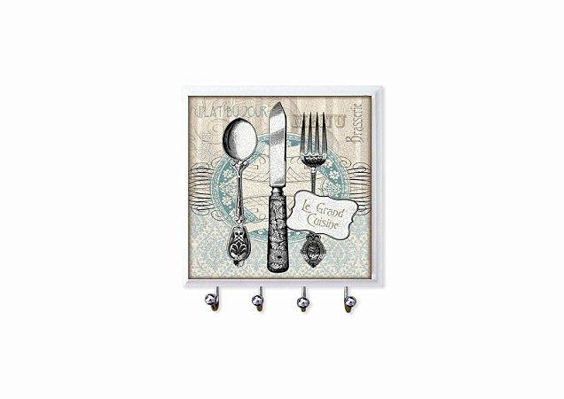 1470-008 Porta chaves Azulejo - Talheres