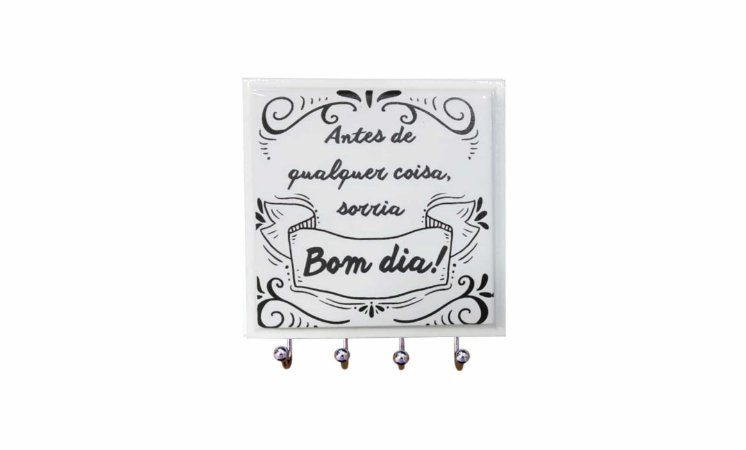 1470-021 Porta chaves Azulejo - Bom dia