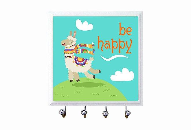1470-023 Porta chaves Azulejo - Be Happy