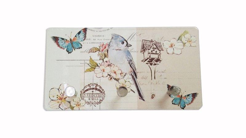 3201 Porta chaves metal -Pássaro azul