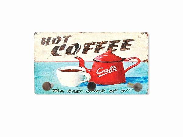 3204 Porta chaves metal - Hot Coffee