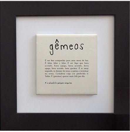 3001-007 Quadro de azulejo Decor - Signo Gêmeos