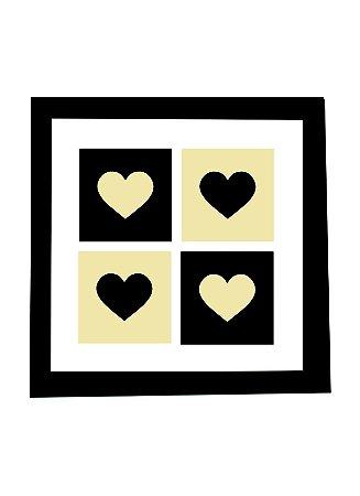 3004-009 Quadro de azulejo Decor - Corações
