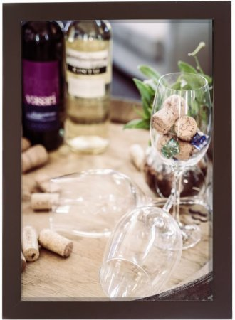 3061G-004 Quadro Rolha - Amigos e vinho
