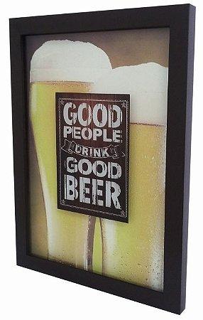 3062G-002 Quadro Tampinha - Copos Good Beer