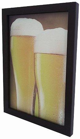 3063G-002 Quadro Tampinha - Copos good beer