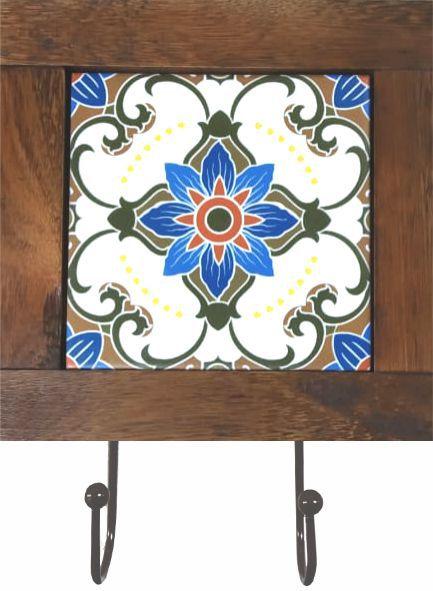 3011-002 Quadro cabideiro - Flor azul