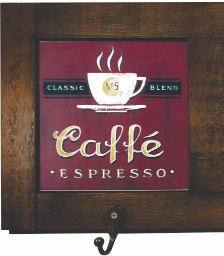 3011-005 Quadro cabideiro - Café vermelho