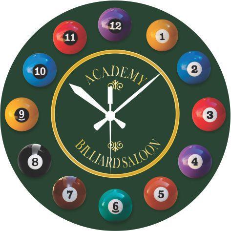 1643 Relógio Redondo - Sinuca