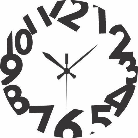 1659 Relógio Redondo - Números GG