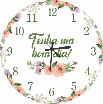 1671 Relógio Redondo -  Bom dia