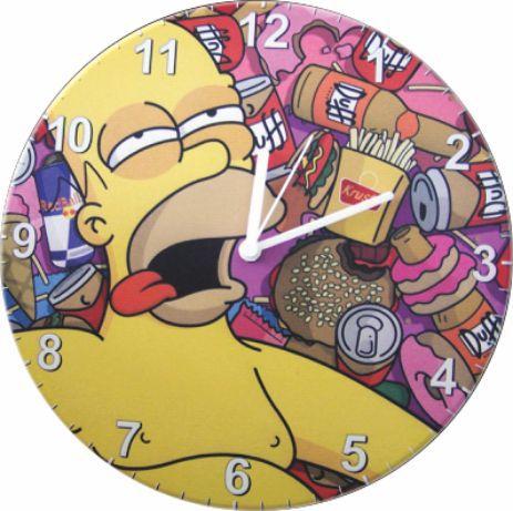 1687 Relógio Redondo - Hommer Simpson