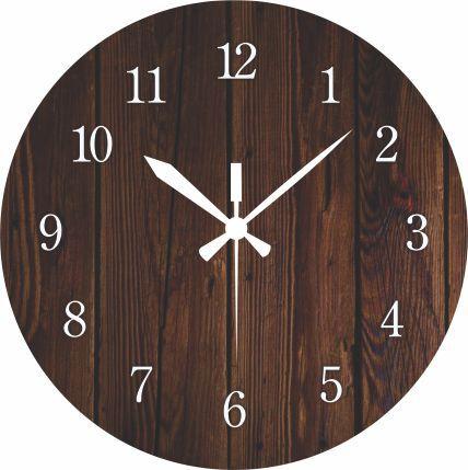 1697 Relógio Redondo -  Madeira