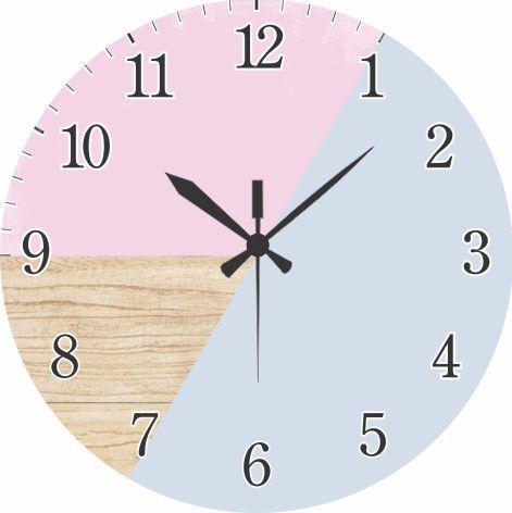 1700-034 Relógio Redondo - Simplista rosa