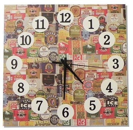 1600-Q30-001 Relógio Quadrado - Rótulos