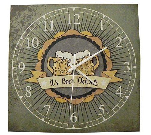 1600-Q30-003 Relógio Quadrado - Canecos