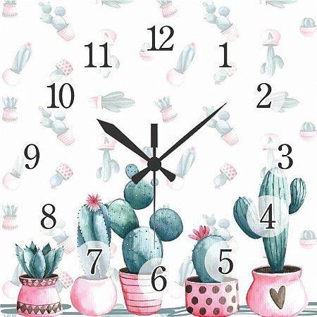 1600-Q30-010 Relógio Quadrado - Cacto