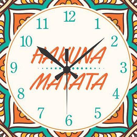 1600-Q30-015 Relógio Quadrado - Hakuna